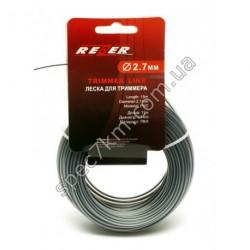 N81 Леска для триммера 2,7 mm / 15 m с пластиковой вставкой REZER