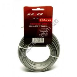 N82 Леска для триммера 2,7 mm / 15 m с металлическим тросом REZER